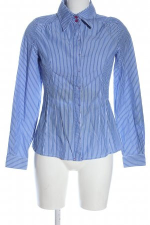 MNG SUIT Camisa de manga larga azul-blanco estampado a rayas estilo «business»