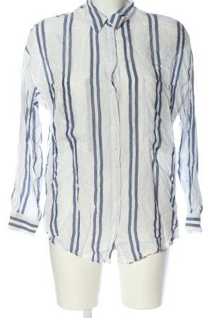 MNG SUIT Camisa de manga larga blanco-azul estampado a rayas estilo «business»