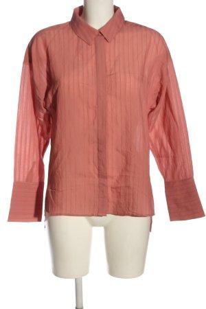 MNG SUIT Camisa de manga larga naranja claro estampado a rayas look casual
