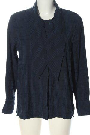 MNG SUIT Camisa de manga larga negro-azul estampado a cuadros look casual