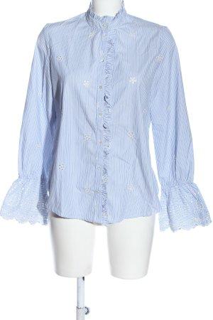 MNG SUIT Camisa de manga larga azul-blanco look casual