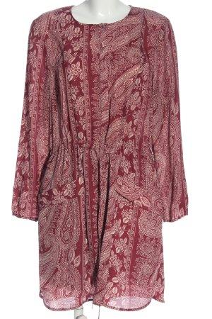 MNG SUIT Langarmkleid pink-weiß abstraktes Muster Casual-Look