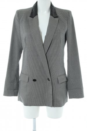 MNG SUIT Long-Blazer weiß-schwarz Karomuster Business-Look