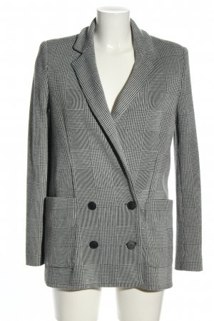 MNG SUIT Long-Blazer hellgrau Karomuster Casual-Look