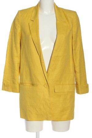 MNG SUIT Blazer largo amarillo pálido look casual