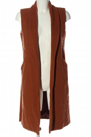 MNG SUIT Long Knitted Vest light orange casual look