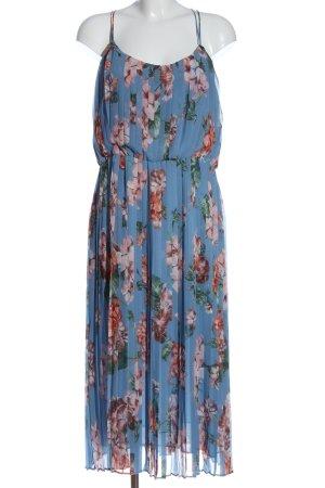 MNG SUIT Maxikleid blau-creme Allover-Druck Casual-Look