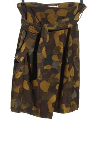 MNG SUIT Wickelrock dunkelgrün-olivgrün abstraktes Muster Casual-Look
