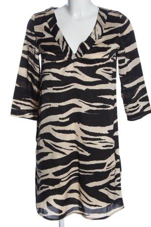 MNG SUIT Minikleid schwarz-weiß abstraktes Muster Casual-Look