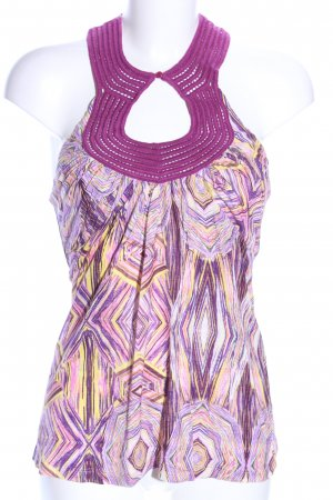 MNG SUIT Halter Top abstract pattern casual look