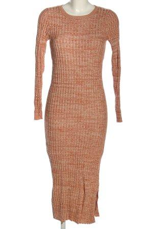 MNG SUIT Vestido de tubo marrón-gris claro punto trenzado look casual