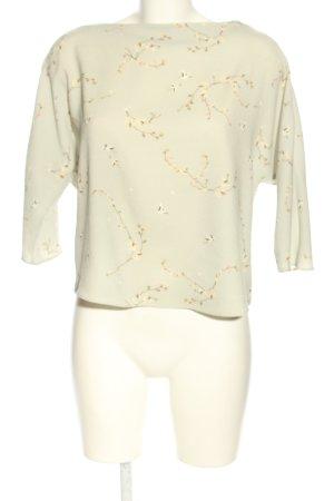 MNG SUIT Schlupf-Bluse weiß Blumenmuster Casual-Look