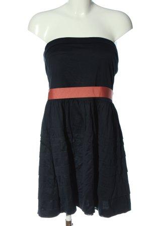 MNG SUIT schulterfreies Kleid schwarz-rot Casual-Look