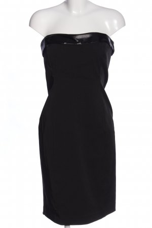 MNG SUIT schulterfreies Kleid schwarz Elegant