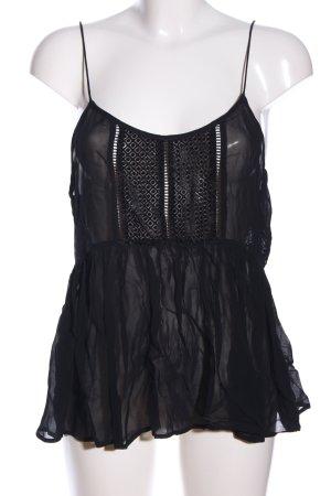 MNG SUIT Top con bretelline nero stile casual
