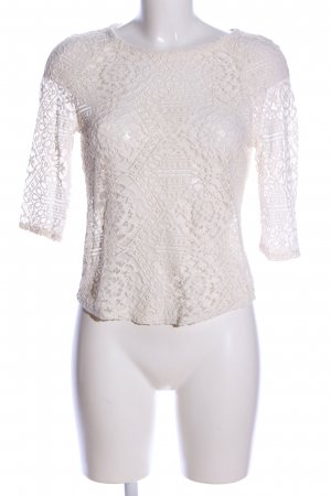 MNG SUIT Spitzenbluse wollweiß Casual-Look