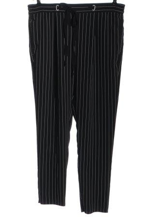 MNG SUIT Stoffhose weiß-schwarz Streifenmuster Casual-Look