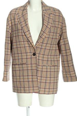 MNG SUIT Blazer in maglia motivo a quadri stile casual