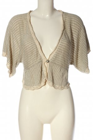 MNG SUIT Knitted Bolero natural white-gold-colored casual look