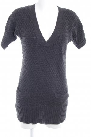 MNG SUIT Strickkleid anthrazit Punktemuster Casual-Look