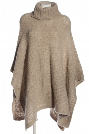 MNG SUIT Knitted Poncho natural white flecked casual look