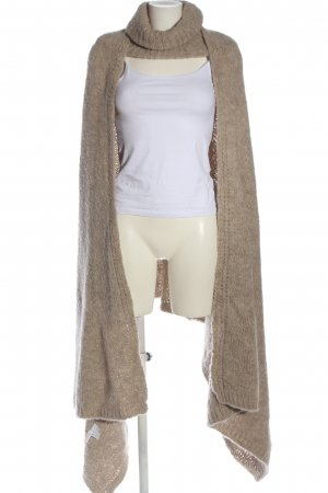 MNG SUIT Poncho in maglia crema stile casual