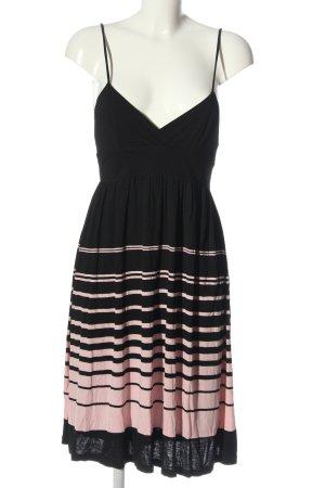 MNG SUIT Trägerkleid schwarz-pink Streifenmuster Casual-Look