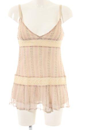 MNG SUIT Canotta a bretelle rosa-crema motivo grafico elegante
