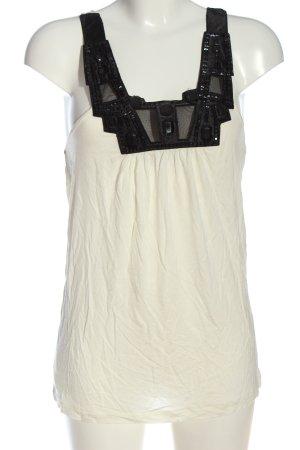 MNG SUIT Canotta a bretelle bianco sporco-nero stile casual