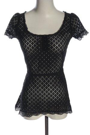 MNG SUIT Transparenz-Bluse schwarz Elegant