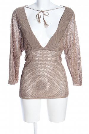 MNG SUIT Transparenz-Bluse braun Casual-Look
