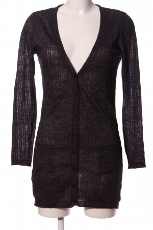 MNG SUIT V-Neck Sweater black striped pattern casual look