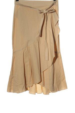 MNG SUIT Kopertowa spódnica nude W stylu casual