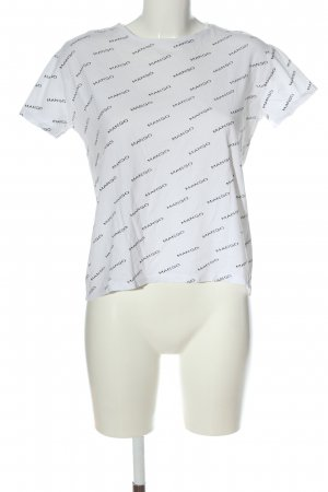 MNG T-Shirt weiß Allover-Druck Casual-Look
