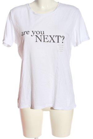 MNG T-Shirt weiß Schriftzug gedruckt Casual-Look