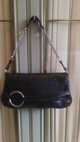 MNG Shoulder Bag black leather