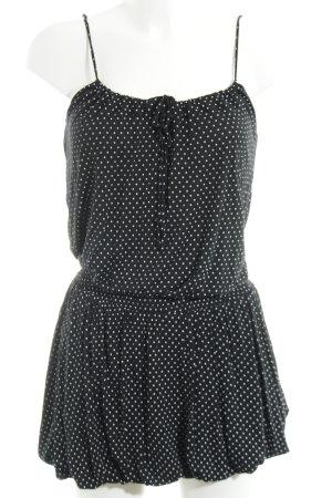 MNG Trägerkleid schwarz-weiß Punktemuster Casual-Look