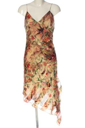 MNG Trägerkleid creme-braun abstraktes Muster Elegant