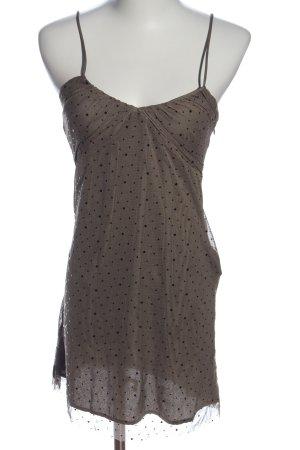 MNG Trägerkleid braun-schwarz Punktemuster Casual-Look