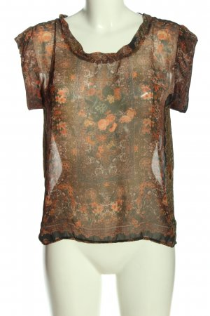 MNG Transparenz-Bluse Allover-Druck Casual-Look