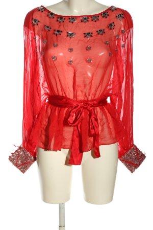 MNG Transparenz-Bluse rot Elegant