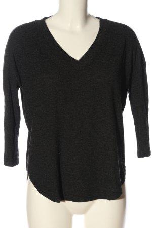 MNG V-Ausschnitt-Pullover hellgrau meliert Casual-Look