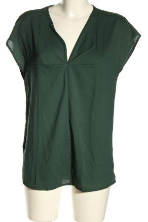 MNG Koszulka z dekoltem w kształcie litery V khaki Melanżowy W stylu casual