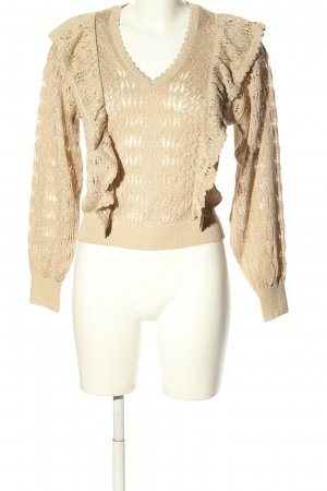MNG V-Ausschnitt-Pullover creme Casual-Look