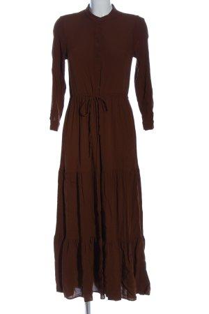 MNG Flounce Dress brown casual look