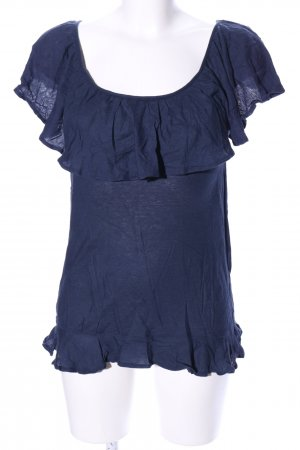 MNG Flounce Top blue casual look