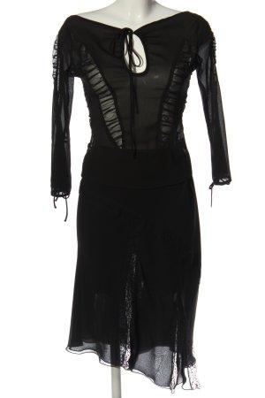 MNG Twin Set tejido negro elegante