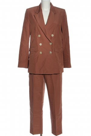 MNG Woven Twin Set brown business style