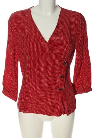 MNG Kopertowa bluzka czerwony-biały Na całej powierzchni W stylu casual