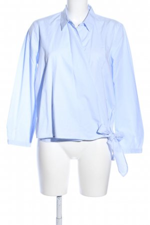MNG Wikkelblouse blauw zakelijke stijl